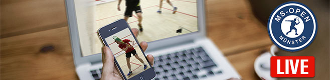 Squash Livestreaming bei den MS-Open